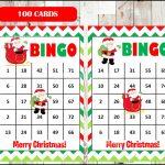 Printable 100 Santa Bingo Cards Printable Christmas Bingo | Etsy | Santa Bingo Cards Printable