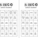 Printable Action Movie Night Bingo Card Game 8 Viewing Party   Etsy   Printable Bingo Cards 2 Per Page