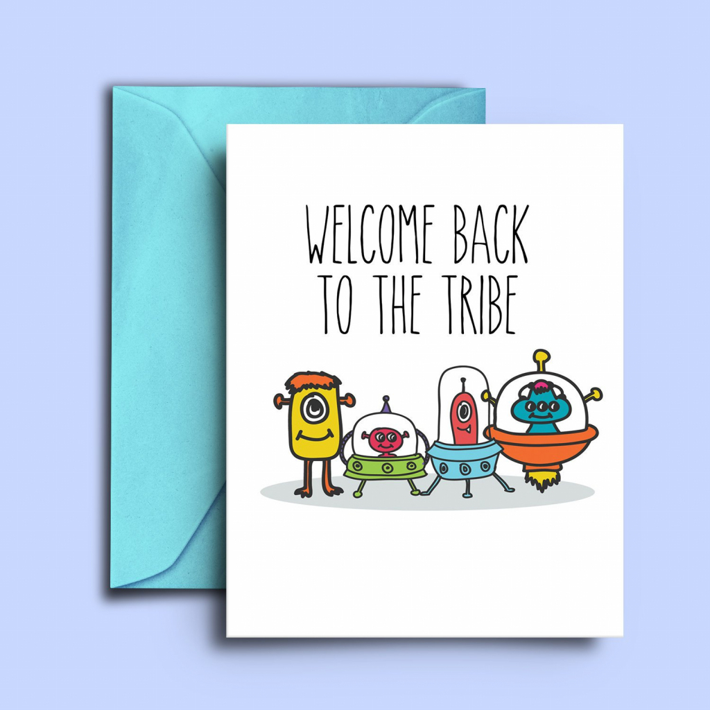 Printable Alien Welcome Home Cards Welcome Back Dad Greeting | Etsy | Welcome Back Card Printable