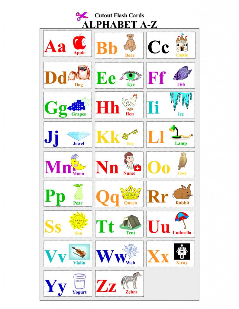 Printable Alphabet | Printable Alphabet Cards Educational Flash | Printable Abc Flash Cards Preschoolers