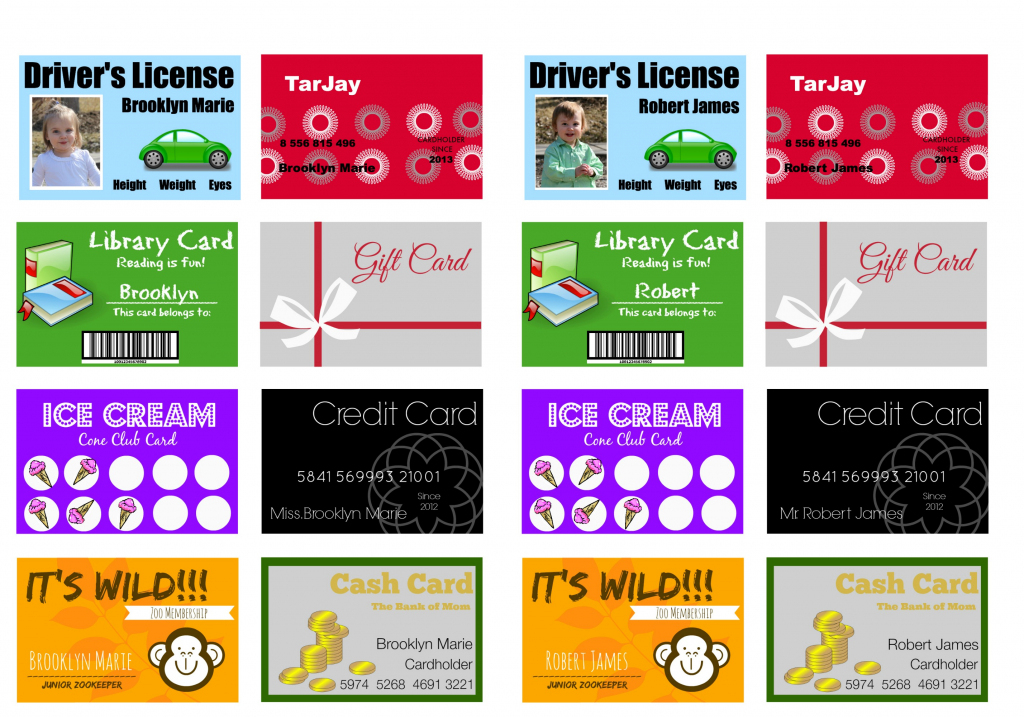 Printable (And Customizable) Play Credit Cards - The Crazy Craft Lady | Printable Credit Cards Accepted Sign
