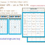 Printable Baby Shower Bingo (Boy) 50 Different Cards 2 Per Page | Printable Bingo Cards 2 Per Page
