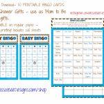 Printable Baby Shower Bingo (Boy) 50 Different Cards 2 Per Page   Printable Bingo Cards 2 Per Page
