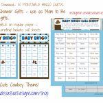 Printable Baby Shower Bingo (Boy) Game (Brown/blue Cowboy Theme) 50 | Cowboy Bingo Printable Cards
