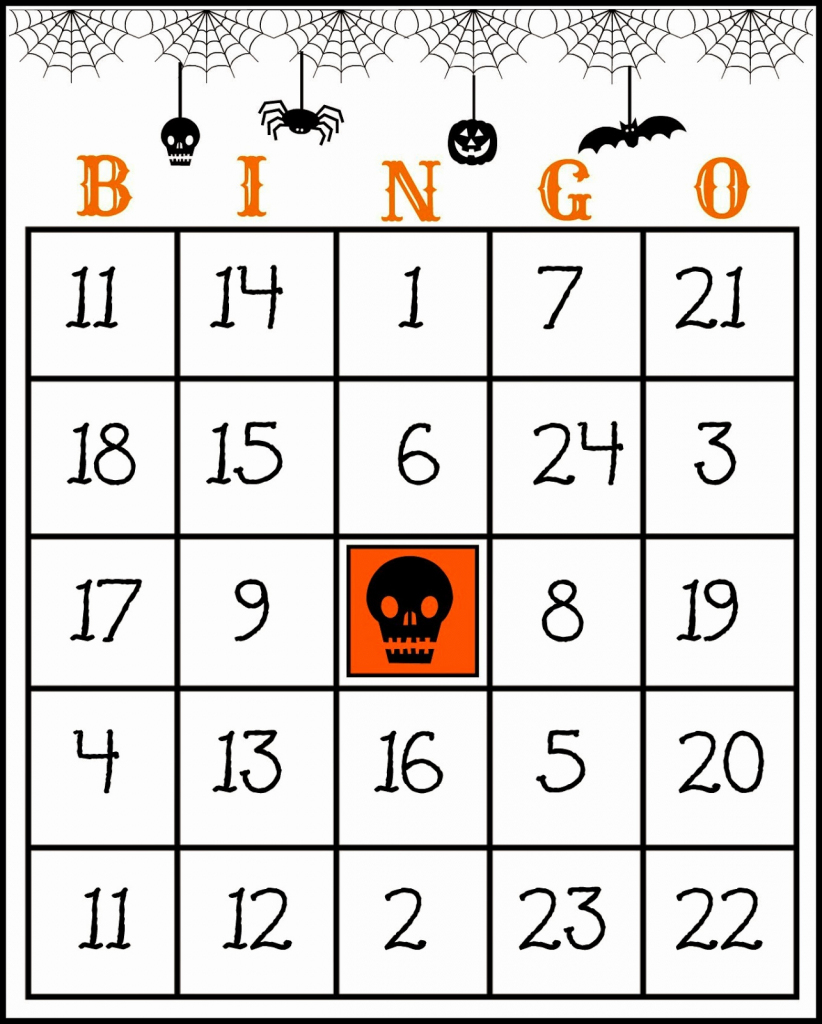 Printable Bingo Cards For Crafty In Crosby Free Printable Halloween | Free Printable Bingo Cards With Numbers