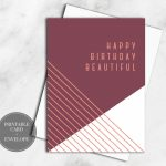 Printable Birthday Card Digital Download Girlfriend Gift For Her | Printable Birthday Cards For Wife