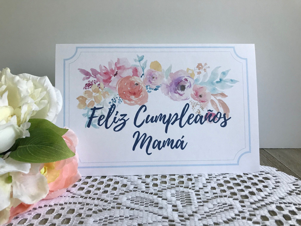 Printable Birthday Card For Mom In Spanish - Feliz Cumpleanos Mama | Spanish Birthday Cards Printable