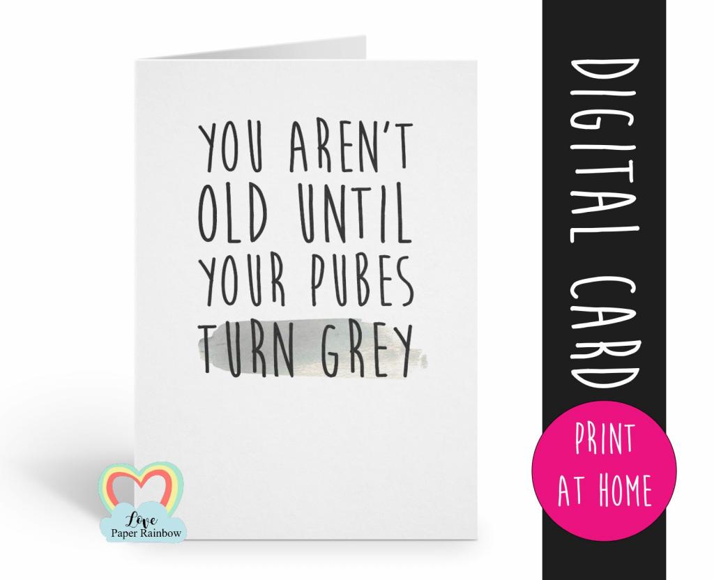 Printable Birthday Card Funny Birthday Card Printable Rude | Etsy | Printable Birthday Cards For Fiance