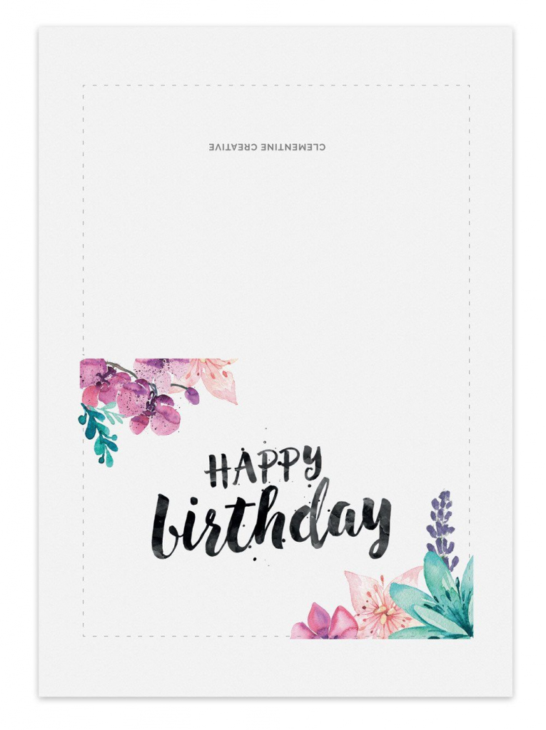 Printable Birthday Card - Secret Garden | Greeting And Gift Cards | Printable Birthday Cards For Her