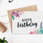 Printable Birthday Card   Secret Garden | Handletteren   Watercolor | Printable Birthday Cards For Girls