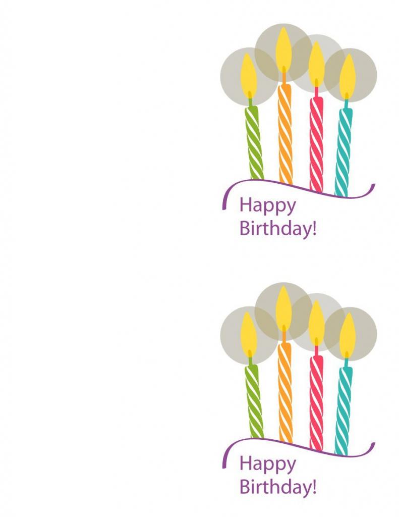 Printable Birthday Card Templates - Kleo.bergdorfbib.co | Free Printable Birthday Cards