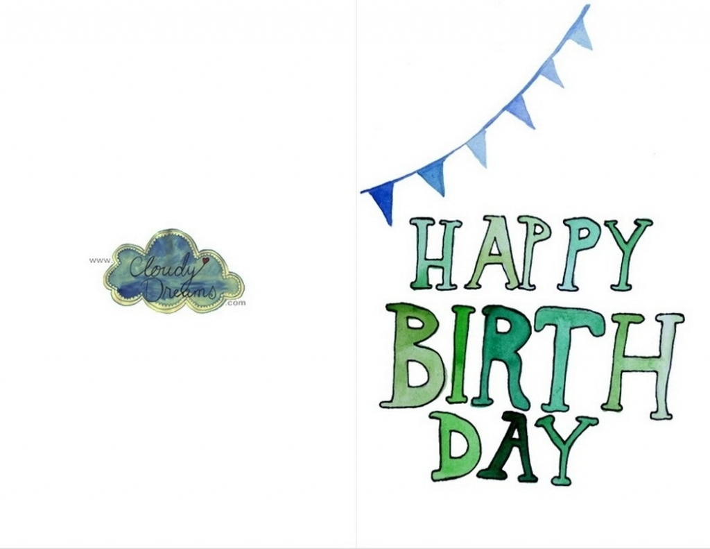 Printable Birthday Cards Foldable For Dad   Printables And Menu For   Printable Birthday Cards For Dad