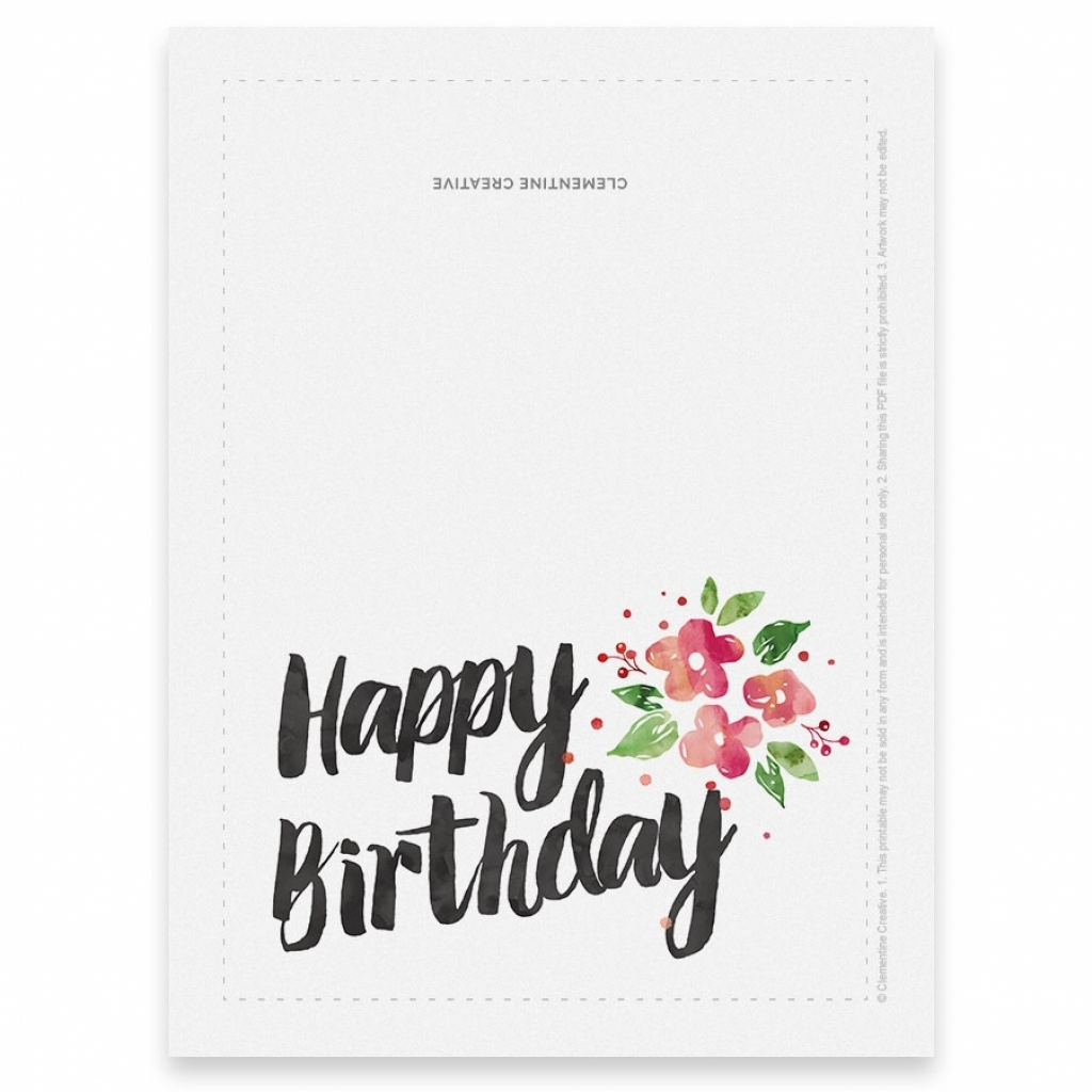 Printable Birthday Cards Foldable | Papers And Essays | Printable Birthday Cards Foldable