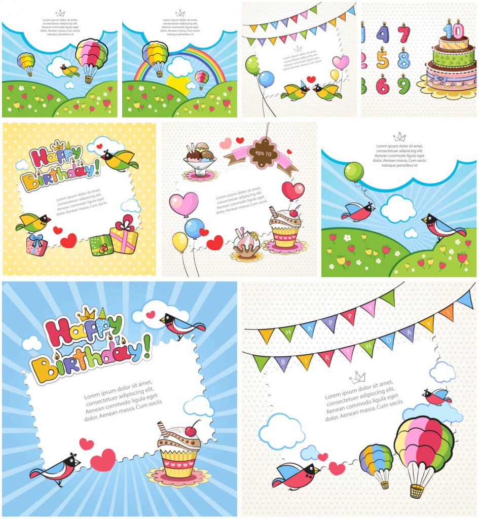 Printable Birthday Cards For Kids | Vector Graphics Blog | Printable Birthday Cards For Kids
