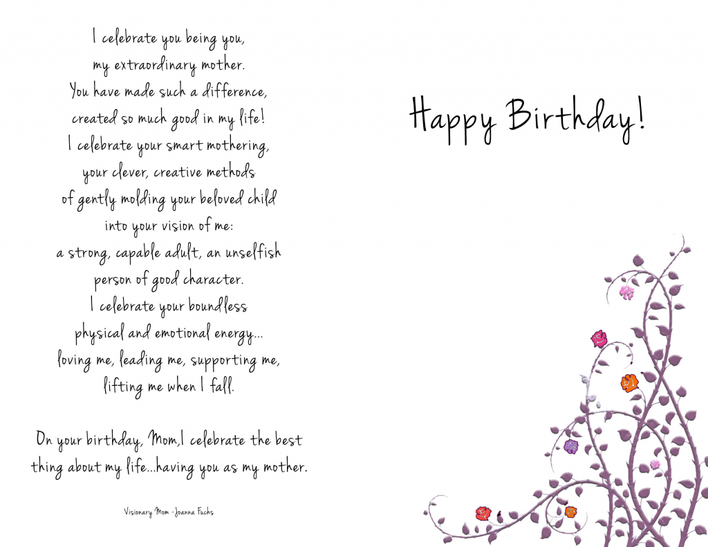 Printable Birthday Cards For Mom – Happy Holidays! | Printable Birthday Cards For Mom