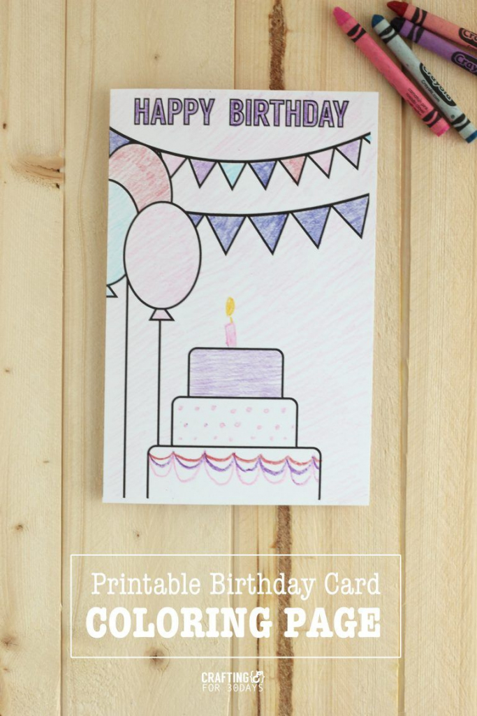 Printable Birthday Coloring Pages | Printables | Birthday Coloring | Printable Coloring Birthday Cards For Mom