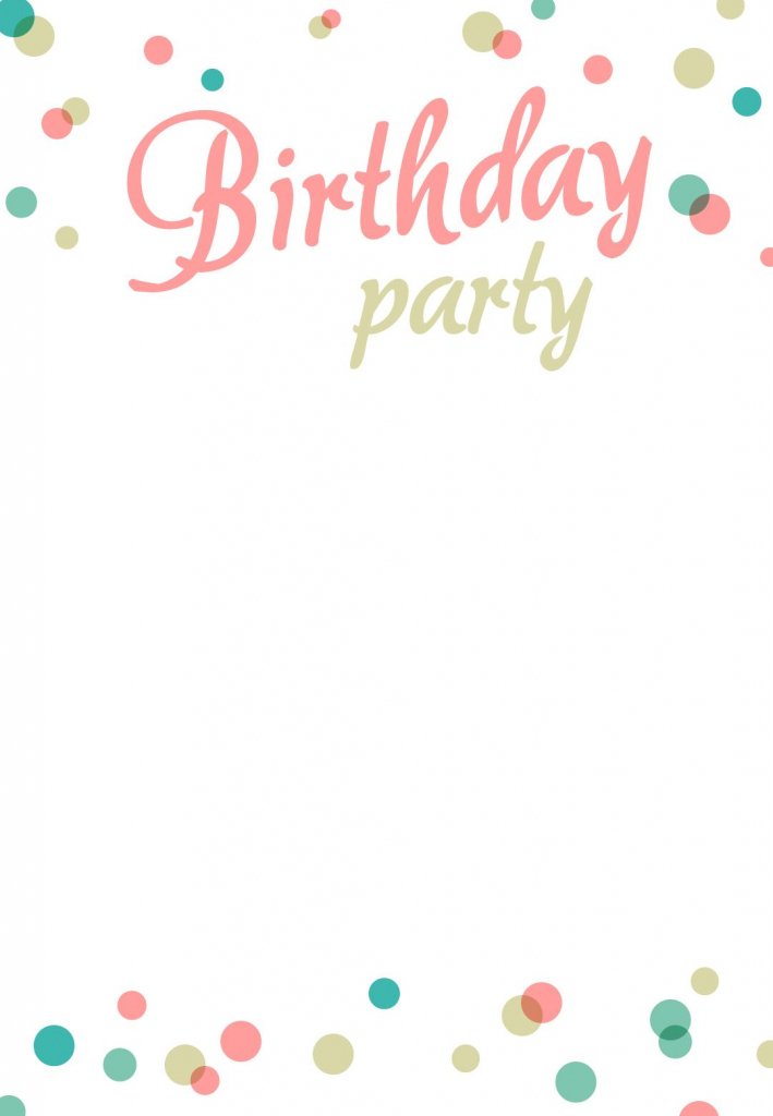Printable Birthday Party Invitation Cards - Kleo.bergdorfbib.co | Free Printable Birthday Invitation Cards Templates