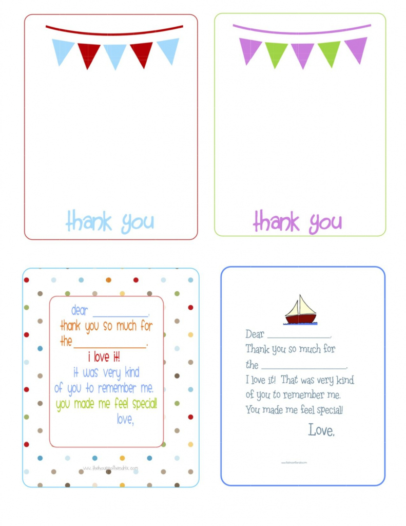 Printable Birthday Thank You Cards - | Printables & Fonts | Free Printable Thank You Cards For Soldiers