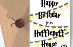 Harry Potter Birthday Card Printable