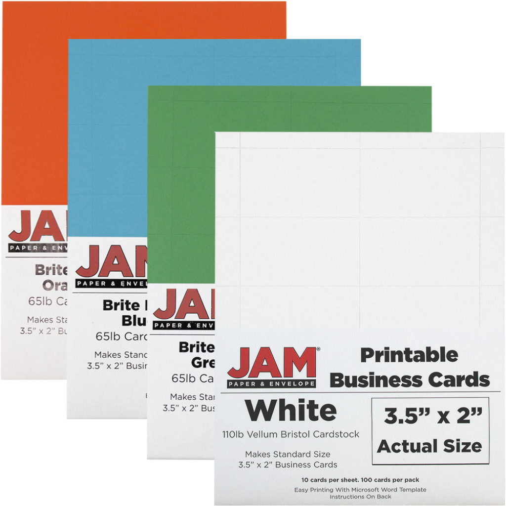 Printable Business Cards: 3 1/2 X 2 | Jam Paper | Printable Business Card Template