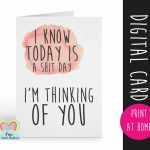 Printable Cards, Thinking Of You Card Printable, Thinking Of You | Printable Thinking Of You Cards