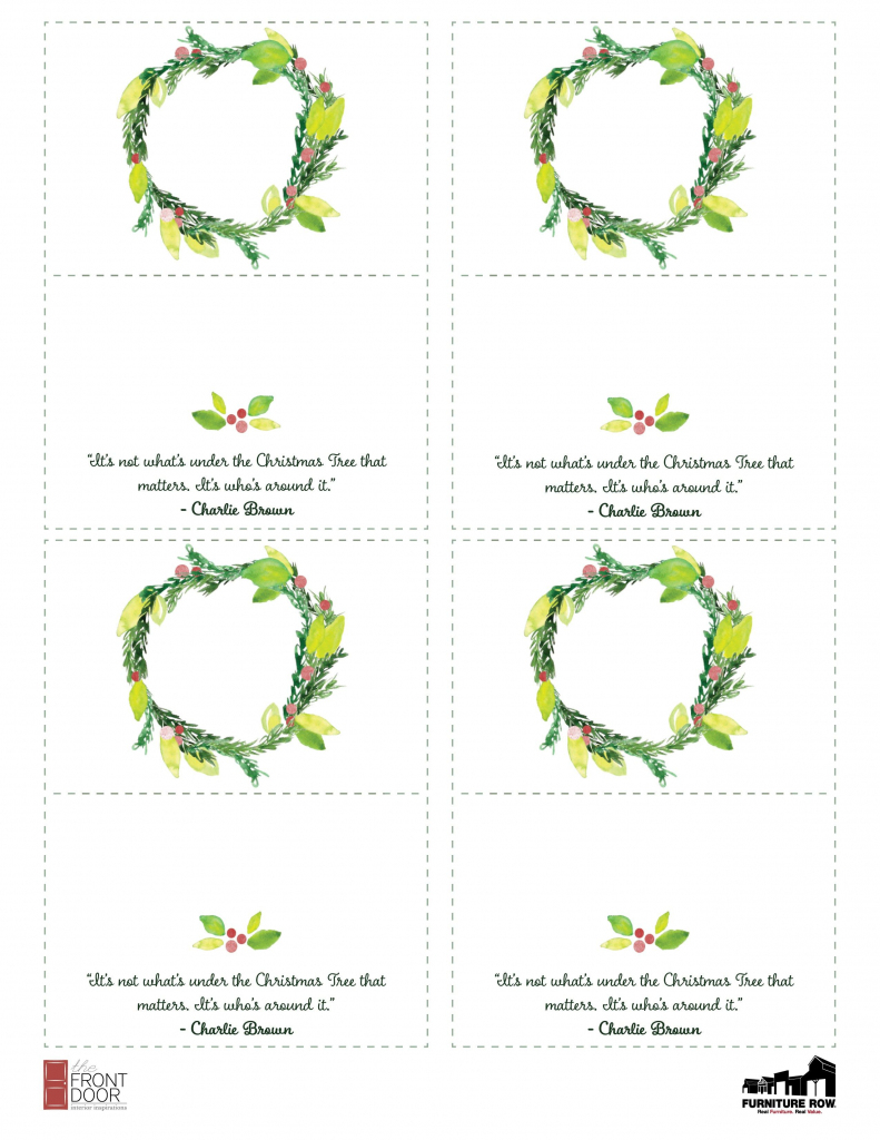 Printable Christmas Place Name Cards For The Table | Holiday | Printable Christmas Place Cards