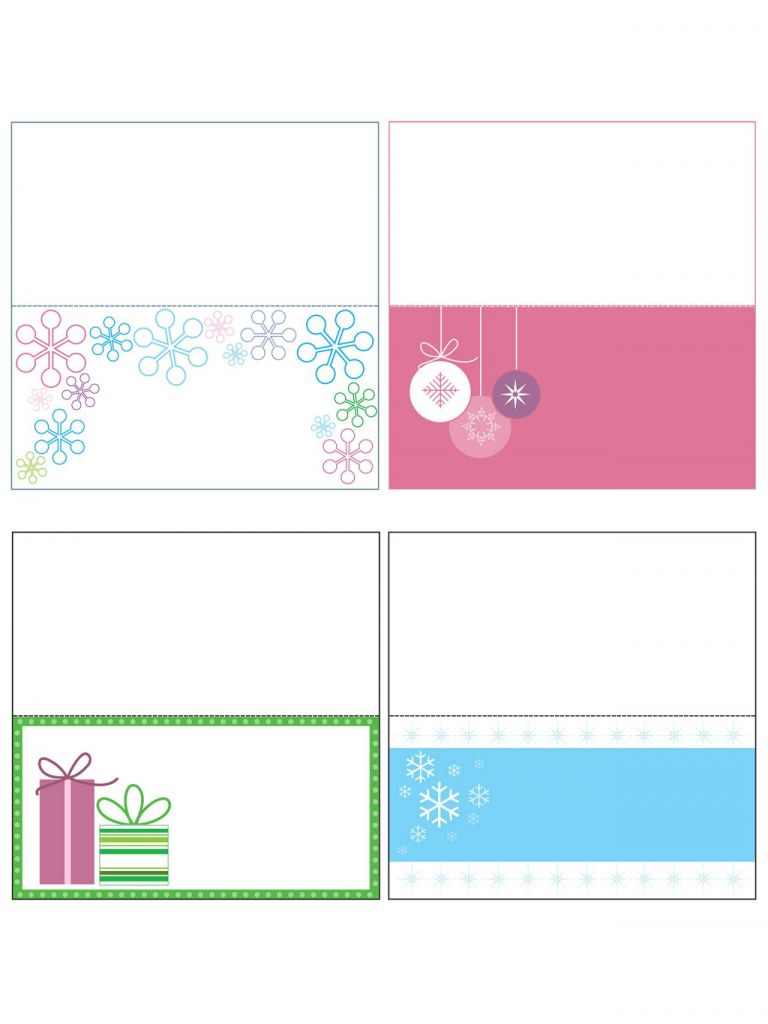 Printable Christmas Tags Template – Fun For Christmas & Halloween | Gift Card Box Template Printable