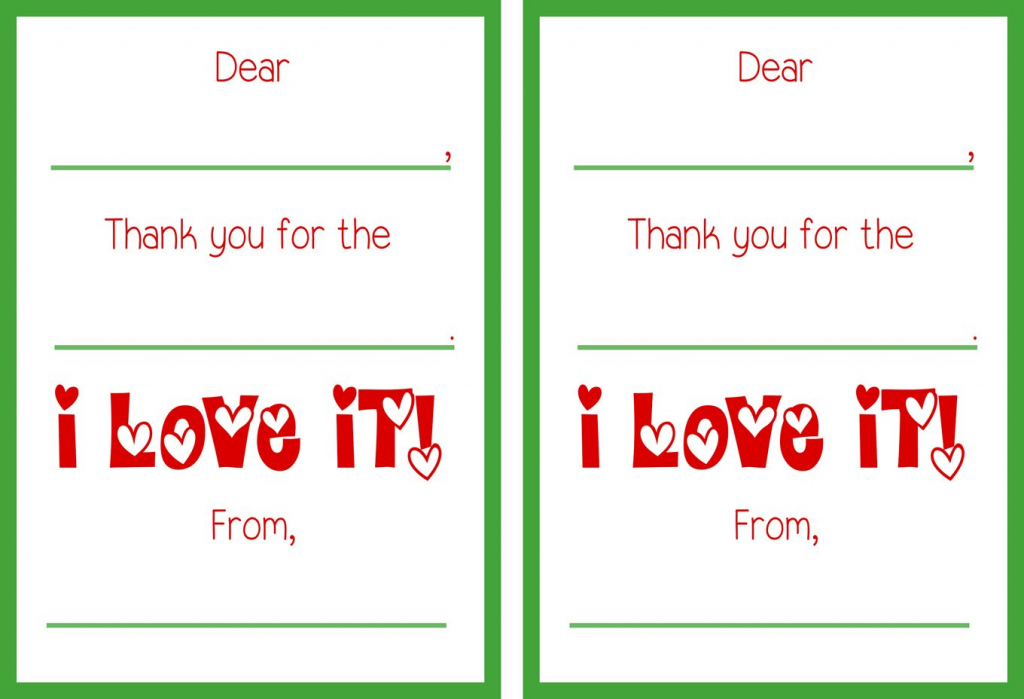 Printable Christmas Thank You Cards | Christmas Thank You Cards Printable Free
