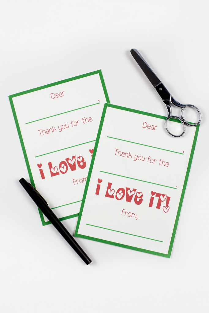 Printable Christmas Thank You Cards | Printable Christmas Thank You Cards