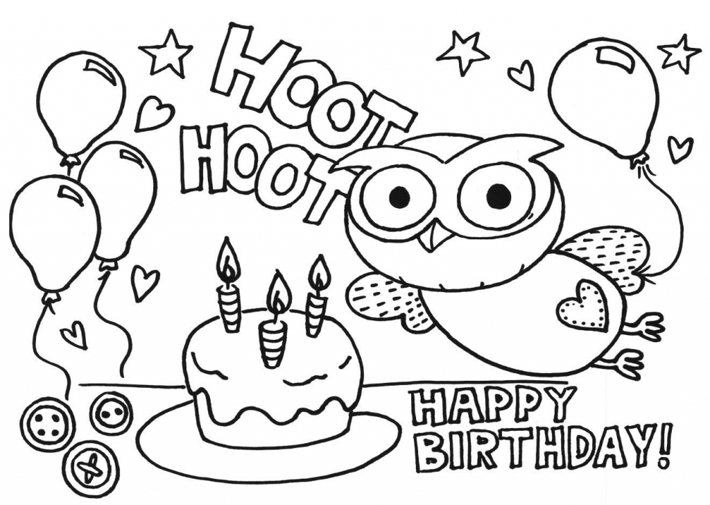 Printable Coloring Birthday Cards For Nana - Coloring - Coloring Home | Printable Coloring Birthday Cards