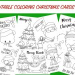 Printable Coloring Christmas Cards  Wunder Mom | Free Printable Christmas Cards To Color