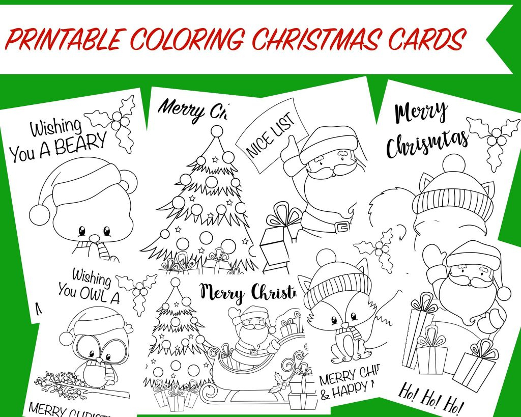 Printable Coloring Christmas Cards -Wunder-Mom   Free Printable Christmas Cards To Color
