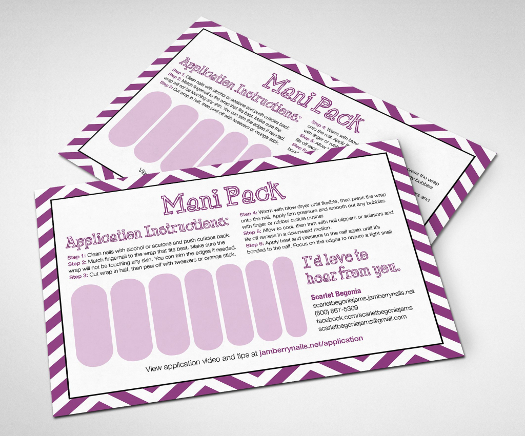 Printable Customizable Jamberry Mani Pack Card! #jamberry | Jamberry 7 Day Challenge Cards Printable