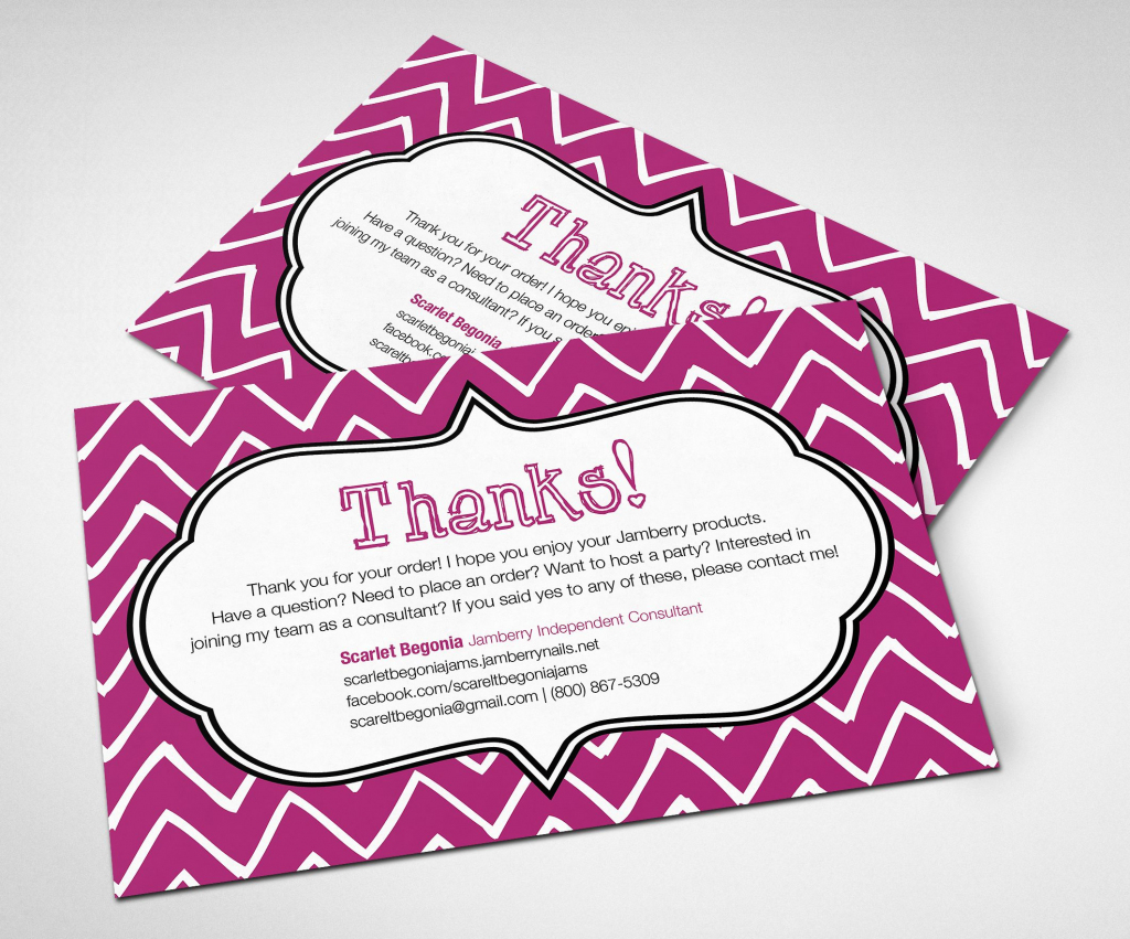 Printable Customizable Jamberry Thank You Card! #jamberry | Jamberry 7 Day Challenge Cards Printable