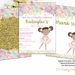 Printable Dance Recital Digital Invitation Ballerina Invite | Etsy | Free Printable Dance Recital Cards