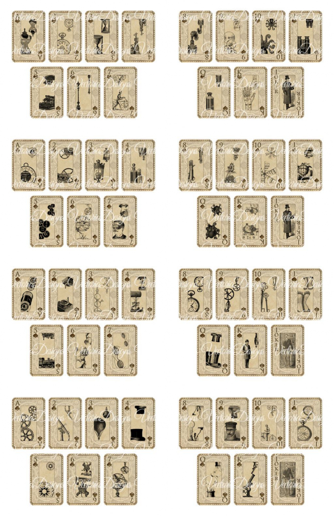 Printable Deck Of Cards - Under.bergdorfbib.co | Printable Mini Playing Cards