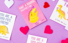 Printable Dinosaur Valentine Cards | Sugar & Soul | Printable Dinosaur Valentines Day Cards