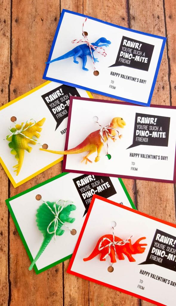 Printable Dinosaur Valentine's Day Cards | Dino-Mite Valentine Printable | Printable Dinosaur Valentines Day Cards