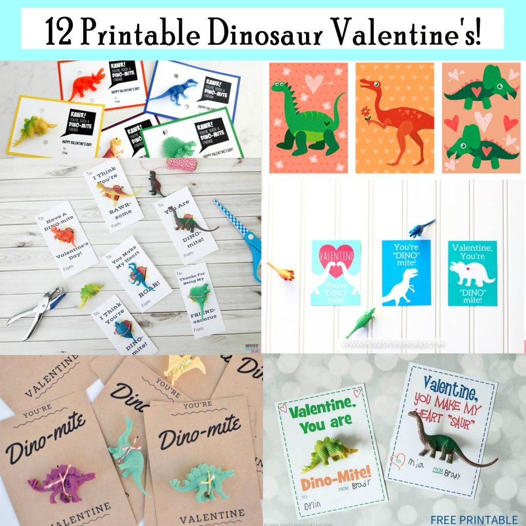 Printable Dinosaur Valentines - Printables 4 Mom | Printable Dinosaur Valentines Day Cards