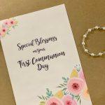 Printable Diy Card Print At Home First Communion Card   Etsy   1St Communion Cards Printable