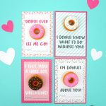 Printable Donut Valentine Cards   Happiness Is Homemade | Frozen Valentine Cards Printable