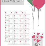 Printable Editable Blank Love Note Cards Custom Labels Digital   Cute Note Cards Printable