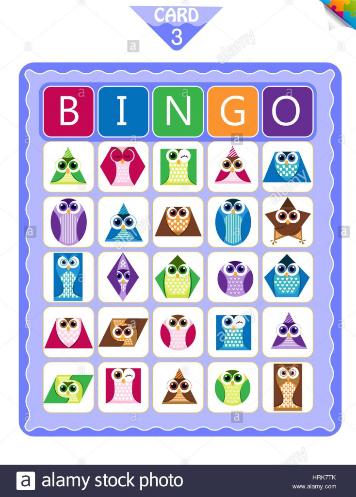 Printable Educational Bingo Game For Preschool Kids With Shapes In | Shapes Bingo Cards Printable