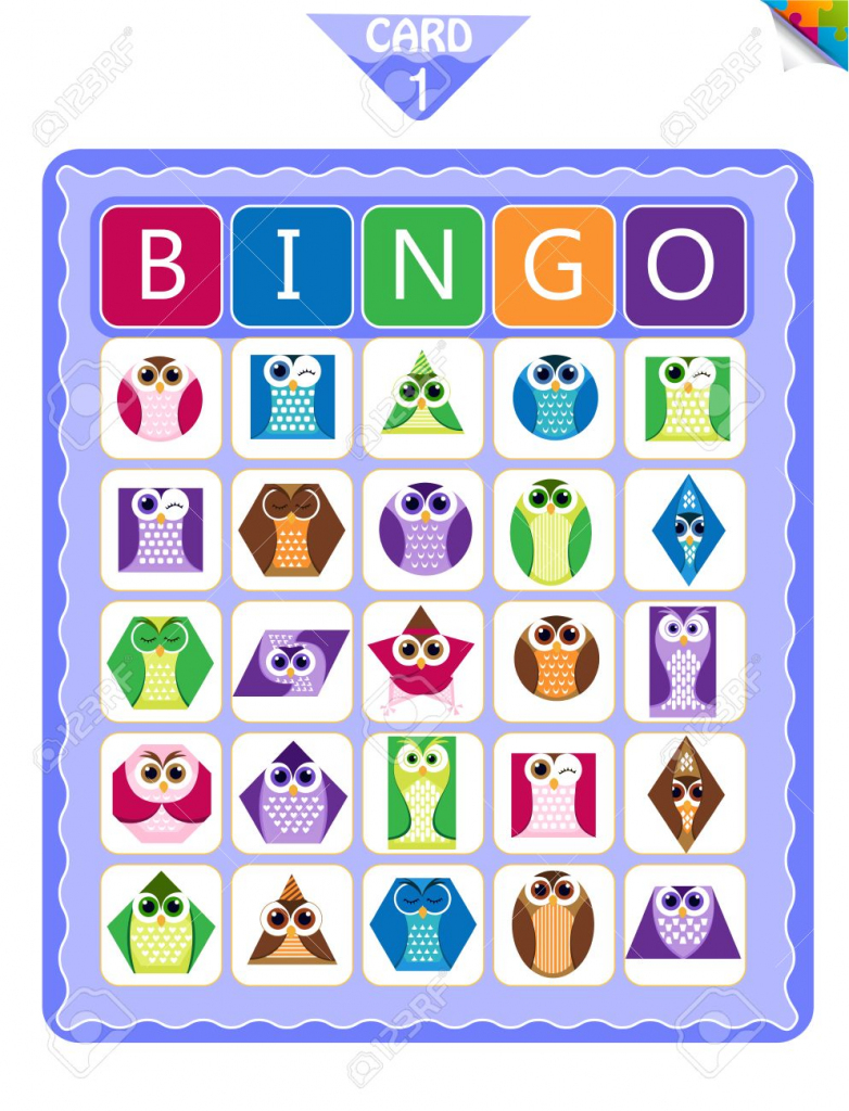 Printable Educational Bingo Game For Preschool Kids With Shapes | Shapes Bingo Cards Printable