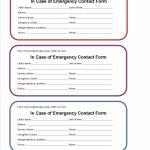 Printable Emergency Card Template | Aaron The Artist | Printable Wallet Medical Card