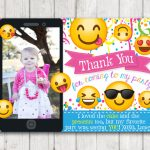 Printable Emoji Thank You Cards With Photo Emoji Thank You Card   Printable Emoji Thank You Cards