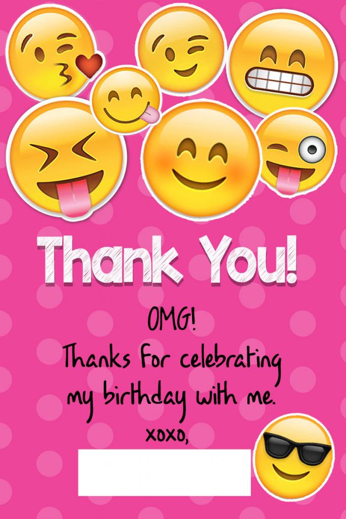 Printable Emoji Thank You Cardskitty Baby Love | Printable Emoji Thank You Cards