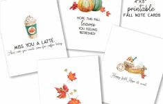 Printable Fall Note Cards Set Of Four 4X5 Cards | Etsy | Cute Note Cards Printable
