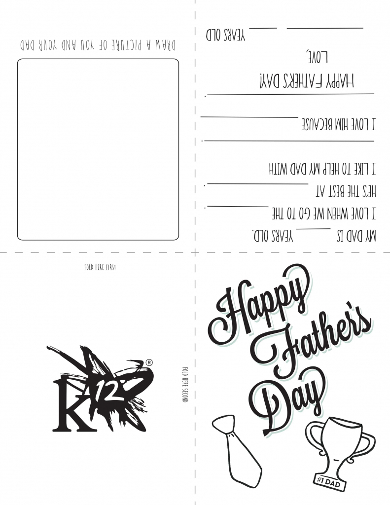 Printable Father's Day Card For Kids To Make | Holidays- Fathers Day | Fathers Day Printable Cards