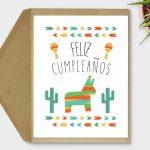 Printable Feliz Cumpleaños Card Spanish Birthday Card | Etsy | Spanish Birthday Cards Printable